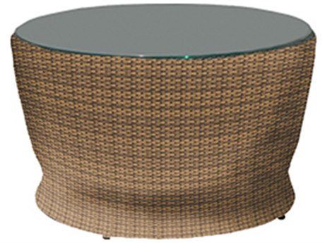 Forever Patio Barbados Biscuit Wicker 34 Round Chat Table