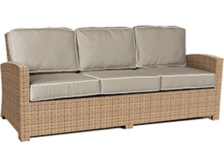 Forever Patio Barbados Biscuit Wicker Sofa