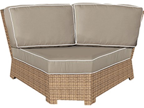 Forever Patio Barbados Biscuit Wicker Sectional Corner Chair
