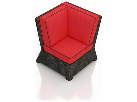 Forever Patio Barbados Ebony Wicker Sectional Corner Chair
