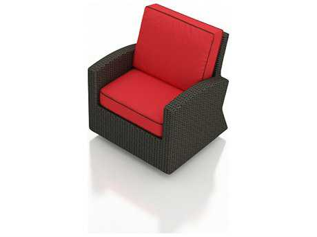 Forever Patio Barbados Ebony Wicker Swivel Glider