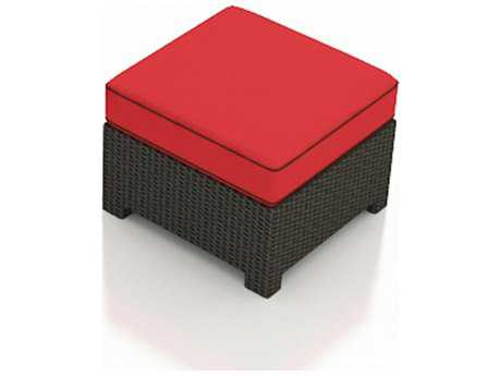 Forever Patio Quick Ship Barbados Ebony Wicker Square Ottoman PatioLiving