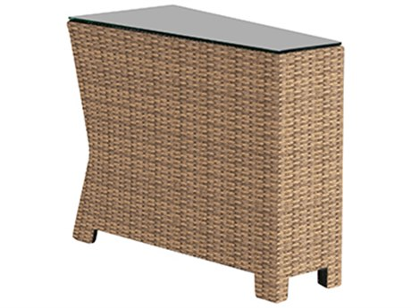 Forever Patio Barbados Wicker Wedge End Table