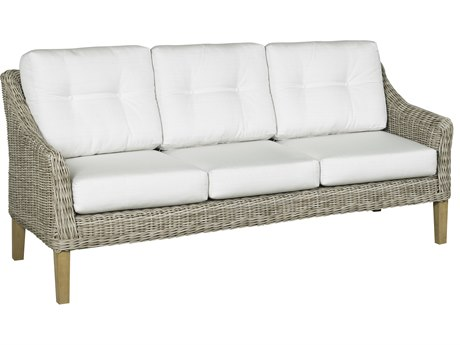 Forever Patio Quick Ship Carlisle Alabaster Teak Wicker Sofa
