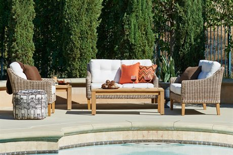 Forever Patio Quick Ship Carlisle Alabaster Wicker Four-Piece Lounge Set