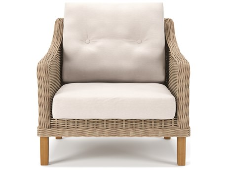Forever Patio Carlisle Alabaster Teak Wicker Lounge Chair