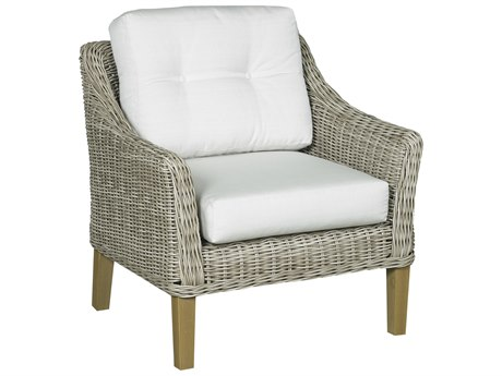 Forever Patio Quick Ship Carlisle Alabaster Teak Wicker Lounge Chair