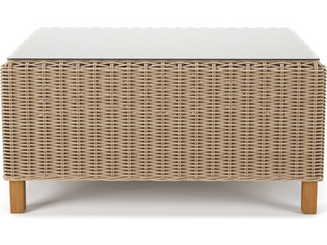 Forever Patio Carlisle Alabaster Teak Wicker 43 x 24 Rectangular Coffee Table
