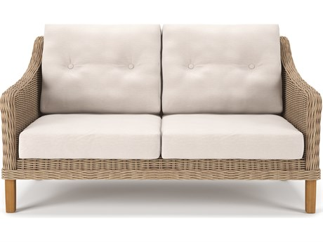 Carlisle Wicker Alabaster Loveseat