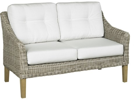 Forever Patio Quick Ship Carlisle Alabaster Teak Wicker Loveseat