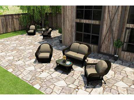 Forever Patio Catalina Sable Round Wicker Four-Piece Lounge Set