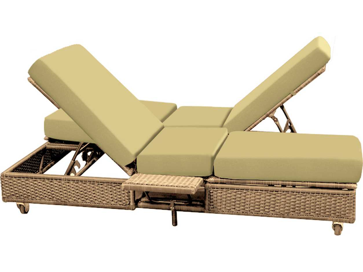 forever patio catalina wicker double adjustable chaise. Black Bedroom Furniture Sets. Home Design Ideas