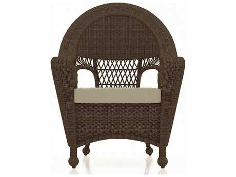 Forever Patio Quick Ship Catalina Sable Round Wicker Dining Chair PatioLiving