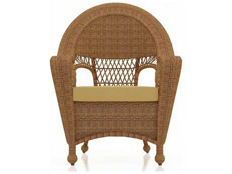 Forever Patio Catalina Wicker Dining Chair in Straw Round