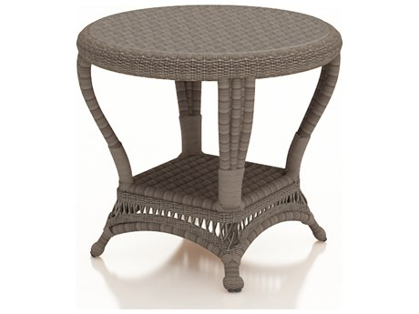 Forever Patio Catalina Heather Wicker 24 Round End Table