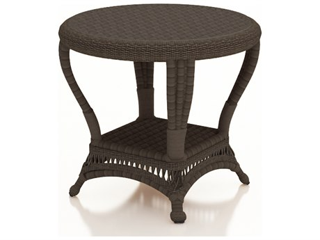 Forever Patio Catalina Sable Round Wicker End Table PatioLiving
