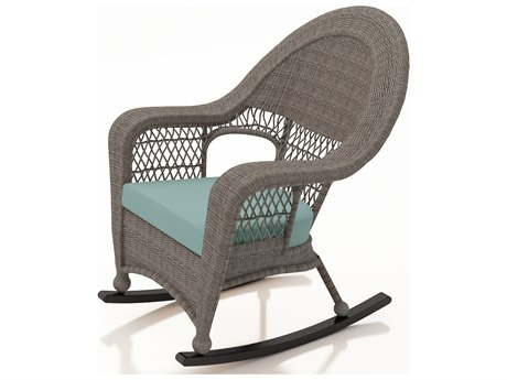 Forever Patio Quick Ship Catalina Heather Wicker High Back Rocker PatioLiving
