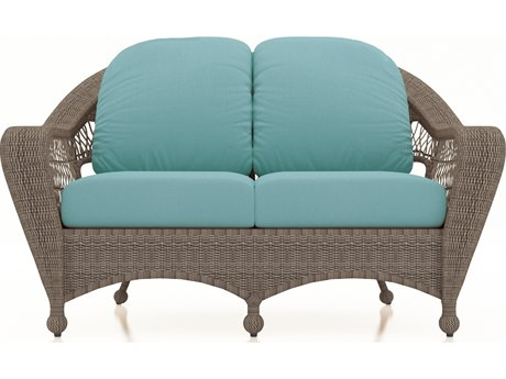 Forever Patio Quick Ship Catalina Heather Wicker Loveseat