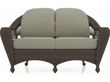 Forever Patio Quick Ship Catalina Sable Round Wicker Loveseat
