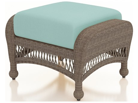 Forever Patio Quick Ship Catalina Heather Wicker Ottoman