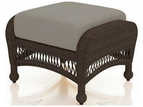 Forever Patio Quick Ship Catalina Sable Round Wicker Ottoman