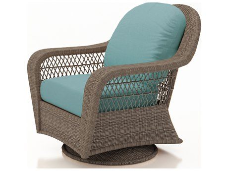 Forever Patio Quick Ship Catalina Heather Wicker Swivel Glider PatioLiving