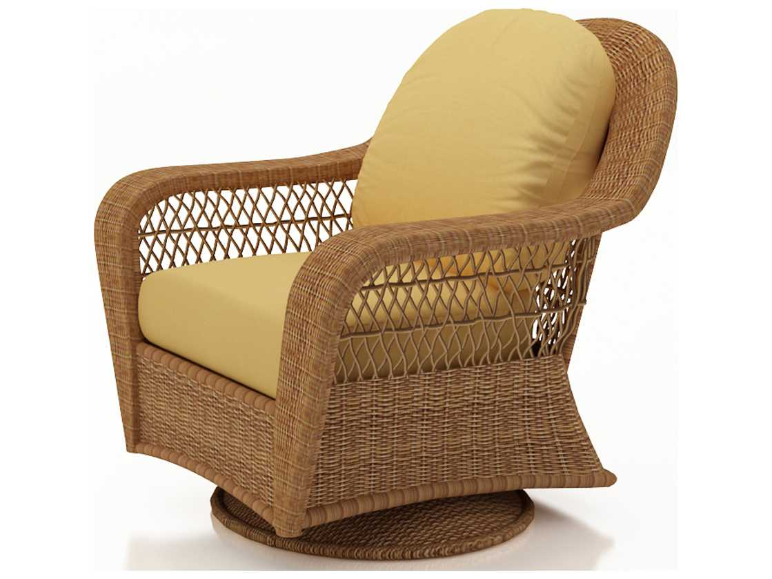 forever patio catalina wicker swivel glider chair in straw r