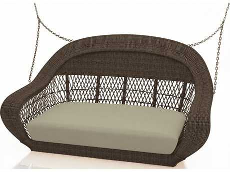 Forever Patio Catalina Wicker Swing in Sable Round