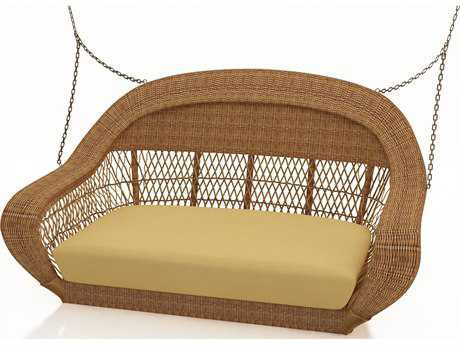 Forever Patio Catalina Wicker Swing in Straw Round