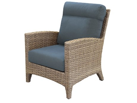 Forever Patio Cavalier Wicker Buff Lounge Chair PatioLiving