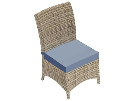 Forever Patio Cavalier Buff Wicker Dining Chair