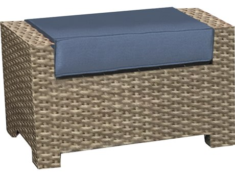 Forever Patio Cavalier Buff Wicker Ottoman