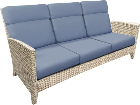 Forever Patio Cavalier Buff Wicker Sofa