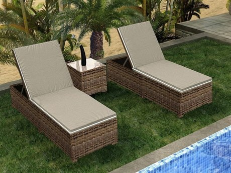 Forever Patio Cypress Wicker Heather Thick 3 Piece Lounge Set