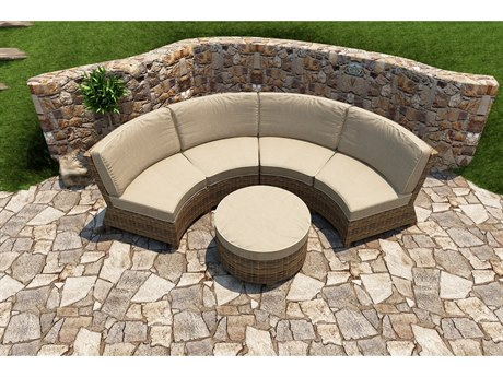 Forever Patio Cypress Wicker Heather Thick 3 Piece Sectional Lounge Set PatioLiving