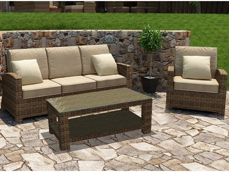 Forever Patio Cypress Wicker Heather Thick 3 Piece Lounge Set PatioLiving