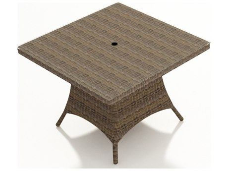 Forever Patio Cypress Heather Round Wicker 48 Square Dining Table