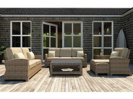 Forever Patio Cypress Wicker Heather Thick 6 Piece Lounge Set PatioLiving