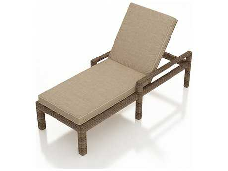 Forever Patio Cypress Wicker Cushion Single Adjustable Chaise Lounge with Arms