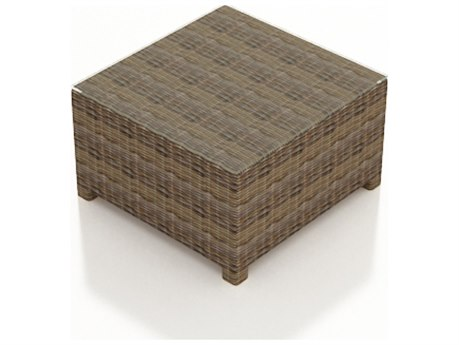 Forever Patio Cypress Heather Round Wicker 32 Square Coffee Table