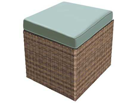 Forever Patio Cypress Heather Wicker Cube Ottoman