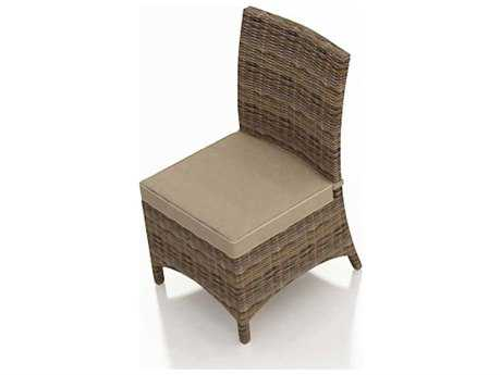 Forever Patio Quick Ship Cypress Heather Round Wicker Dining Chair