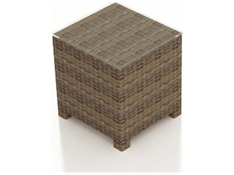 Forever Patio Cypress Heather Round Wicker 20 Square End Table PatioLiving