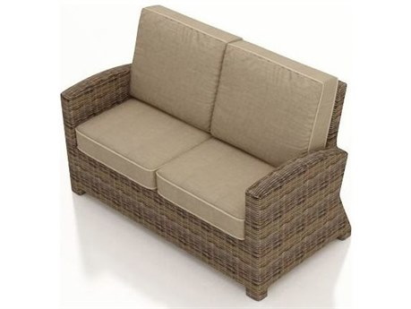 Forever Patio Cypress Wicker Heather Thick Loveseat PatioLiving