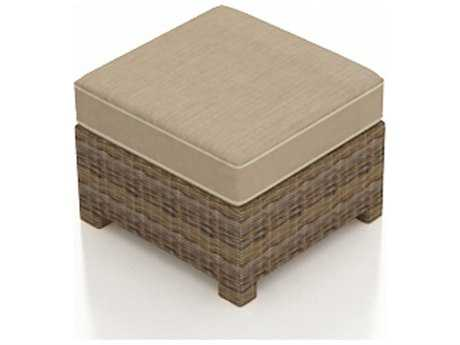 Forever Patio Cypress Wicker Cushion Ottoman