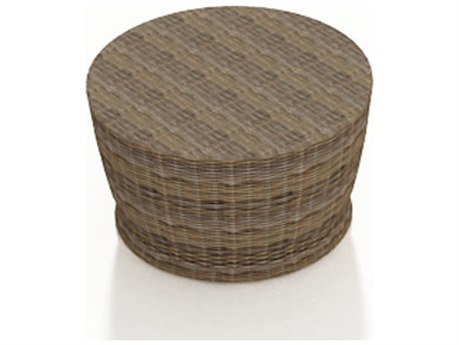 Forever Patio Cypress Heather Round Wicker 34 Round Chat Table