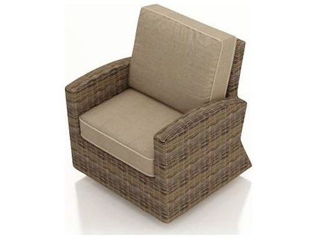 Forever Patio Cypress Wicker Heather Thick Swivel Glider Lounge Chair PatioLiving