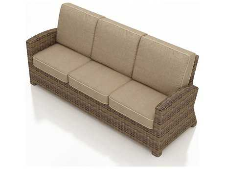 Forever Patio Quick Ship Cypress Heather Round Wicker Sofa