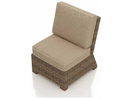 Forever Patio Cypress Heather Round Wicker Sectional Middle Chair