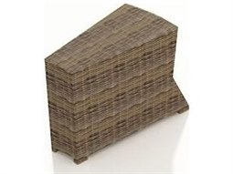 Cypress Heather Round Wicker 32.5 x 15 Wedge Rectangular End Table